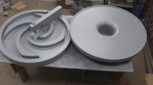 Стержневой ящик, входит в состав модельной отливки крыльчатки центробежного насоса